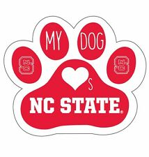 NORTH CAROLINA STATE WOLFPACK PAW DECAL STICKER-MY DOG LOVES NC STATE STICKER