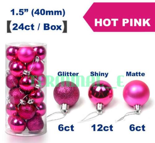 24 pcs Shatterproof Christmas Balls Tree Hanging Ornament Wedding Party Decor