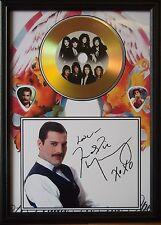 Freddie Mercury Queen Gold Look  CD, Autograph & Plectrum Display