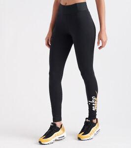 04d76fa859be1 AQ7872-010 Women's Nike NEW METALLIC GFX LEGGING !!BLACK /SILVER ...