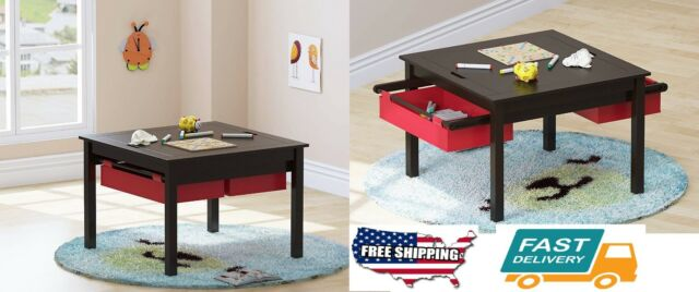 Utex 2 In 1 Kids Construction Play Table With Storage Drawers And