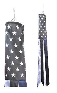 Thin Blue Line USA Pro-Police Awareness Super 5' Windsock