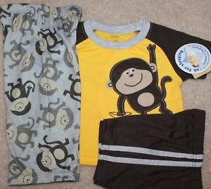 263d4ea74 New! Boys Carter s 3 pc Pajamas Sleep Set (Monkeys! PJs) - Size 12 ...