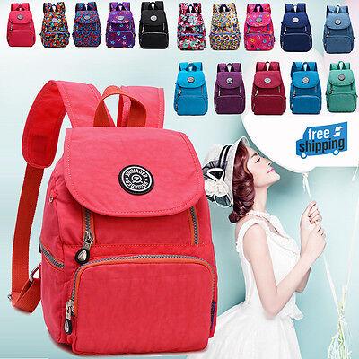New Women Girl Nylon Leisure Backpack Rucksack School Satchel Hiking Bag Bookbag