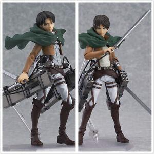 Anime-Attack-on-Titan-Levi-Ackerman-Eren-Jaeger-6-034-PVC-Action-Figure-Model-Toy