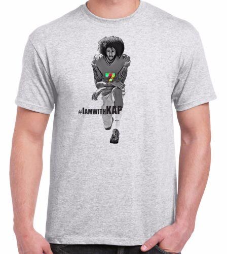 Colin Kaepernick Football Silent Protest Men/'s T-Shirt Short Sleeve Grey Gift
