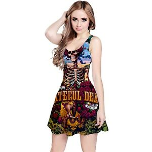 Image Is Loading Grateful Dead Band Sleeveless Dress