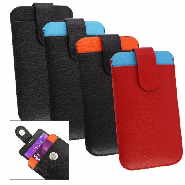 VÉRITABLE veau protection housse étui de poche en cuir pour OnePlus téléphones
