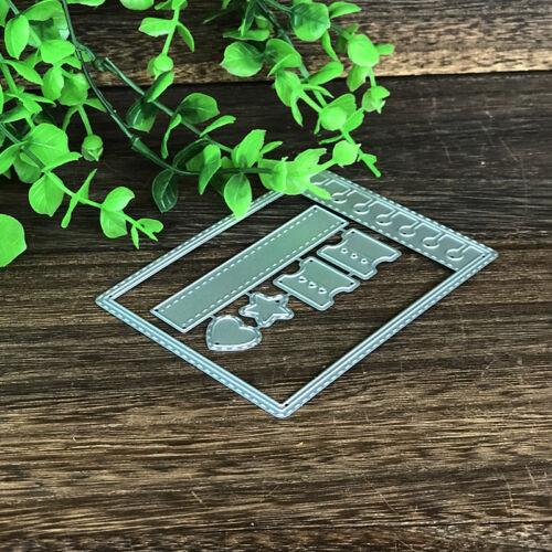 Frame Design Metal Cutting Dies For DIY Scrapbooking Album Paper Ca HGUK