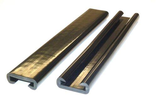 Treppenhandlauf 40x8 mm Grau CHM 1 m PVC Kunststoff Handlauf
