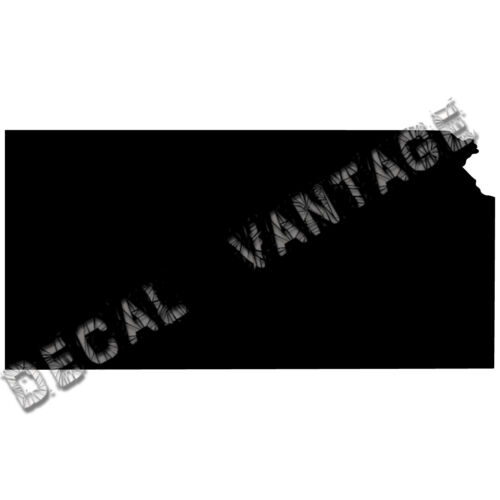 Kansas Vinyl Sticker Decal State KS Choose Size /& Color