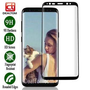 Piena-temperato-vetro-Screen-Protector-Fr-Samsung-Galaxy-Nota-9-8-S8-S9-Plus
