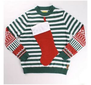 19c8be572fc2fc Image is loading Brand-New-tipsy-elves-Stocking-Ugly-christmas-sweater-