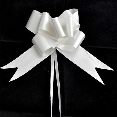 Cordiale 20pcs Large Pull Bow Silver Ribbons Wedding Wedding Car Gift Decorations