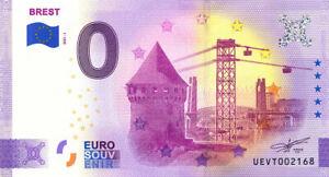 29 BREST Tour Tanguy et téléphérique, 2021, Anniversaire, Billet Euro Souvenir