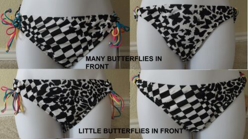 M L,XL New Genuine HOBIE black// white swim bikini bottom hipster pants size S