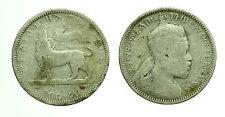 pcc1600_2) MENELIK 1/4 Birr 1889  Etiopia - Ethiopia  Silver