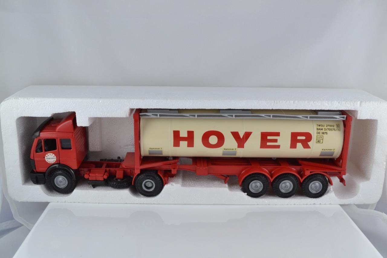 NZG Art No 317 HOYER Mercedes tracteur citerne remorque 99.9% En parfait état, dans sa boîte UK livraison gratuite