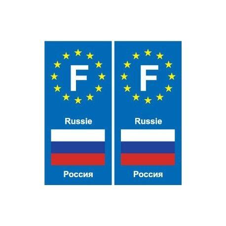 F Europe Russie Russia autocollant plaque
