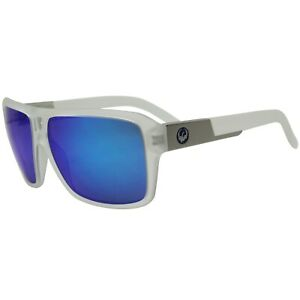 Dragon-The-Jam-720-2337-Matte-Clear-Frame-with-Blue-Ion-Lens-Mens-Sunglasses