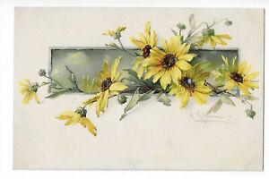 CATHARINA KLEIN FLOWERS SIGNED ILLUSTRATION