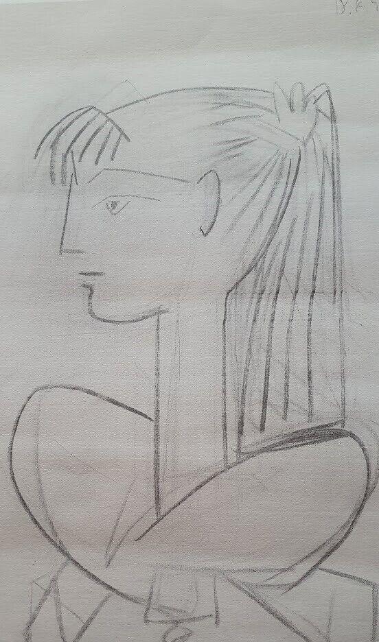 Offset Lithographi, Pablo Picasso, motiv: Sylvette