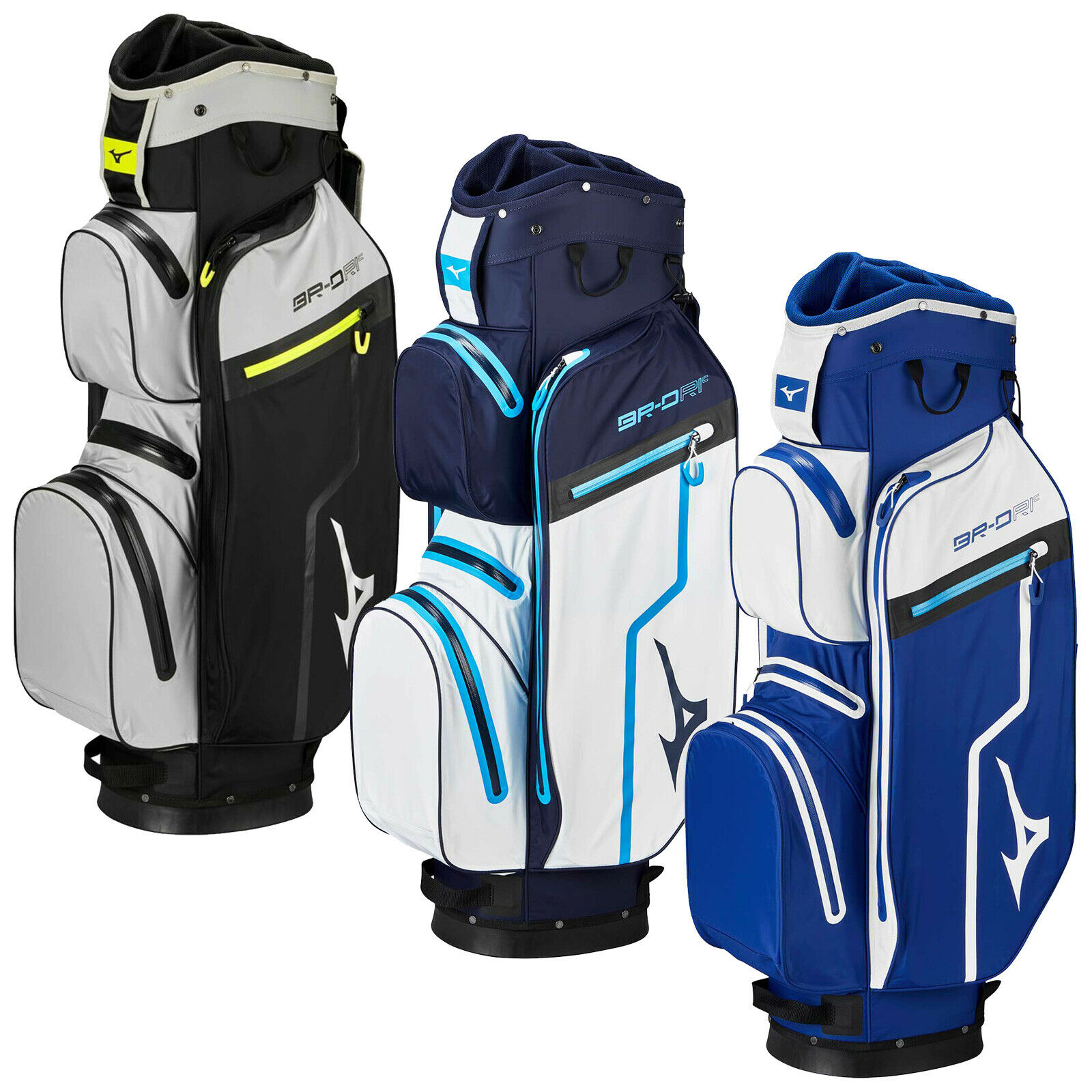 2019 Mizuno Mens BR-DRI Cart Bag Waterproof Full Length Dividers 14 Way