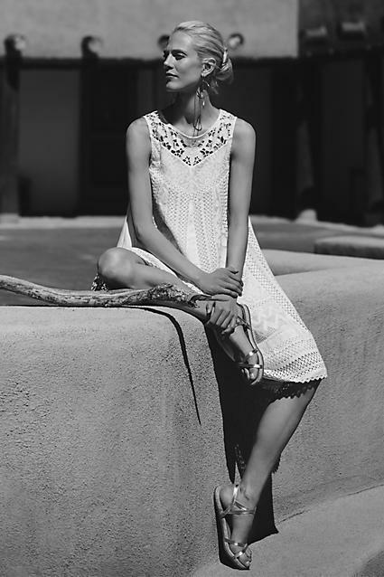 NWT SZ 8 Cottonwood Lace Swing Dress, Ivory Vanessa Virginia