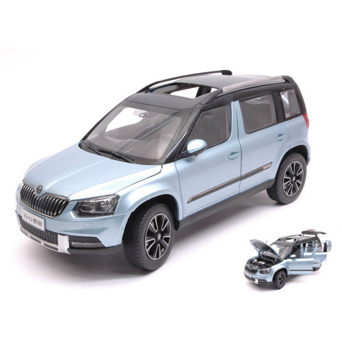 SKODA YETI 2013 METtuttiIC LIGHT blu 1 18 Paudi modello Auto Stradali Die Cast