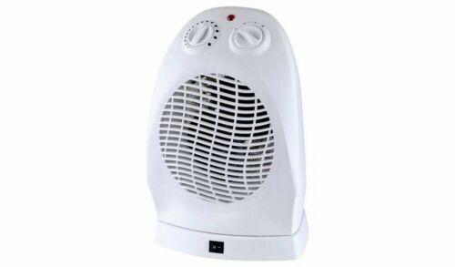White Challenge 2.4KW Upright Oscillating Fan Heater