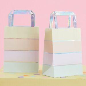 cc8765a68a5e0 Details about 5 x Pastel Iridescent Party Bags Unicorn Mermaid Party Favour  Gift Paper Bags