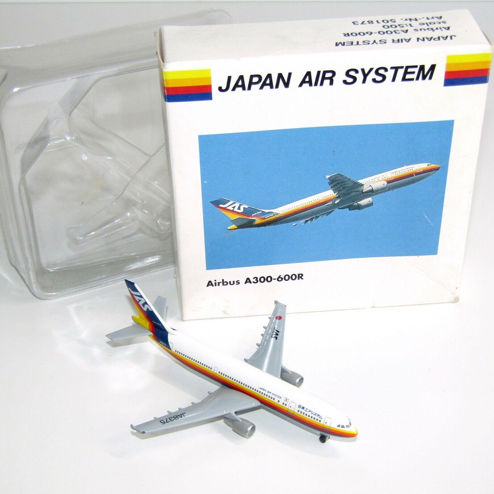 Airbus A300-600R Japan Air System JA8375 Herpa 501873 1:500