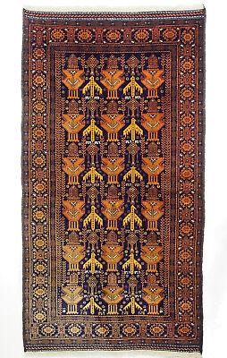 6,9x3,7 ft unique genuine old nomadic Afghan Warrug Afghanistan Kriegteppich NR3