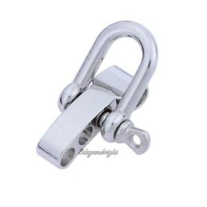 1//5//10pcs O-Shaped Stainless Steel Shackle Buckle For Paracord Survival Bracelet