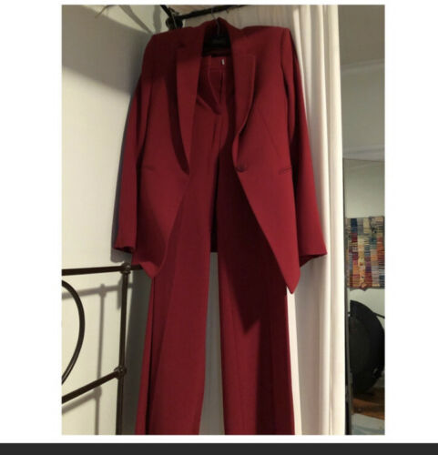 Theory Red Pant Suit