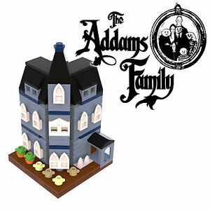 LEGO-Addams-Family-mansion-PDF-only-instructions-modular-10228-10230-MOC-blue