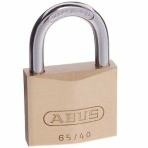 ABUS Lock Padlock 65/40 40mm -KEYED ALIKE Brass Bodied Padlocks-FREE POST