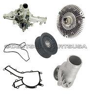 Mercedes W163 Ml320 430 500 Water Pump Pulley Thermostat Fan Clutch Kit