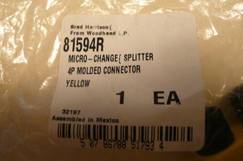 NEW BRAD HARRISON 81594R MICRO-CHANGE SPLITTER 4 POLE MOLDED CONNECTOR