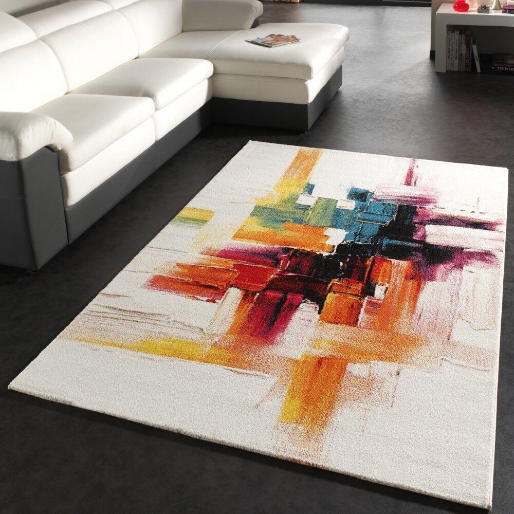 Tapis Moderne Splash De Marque Coloreeé Brosse Neuf EO