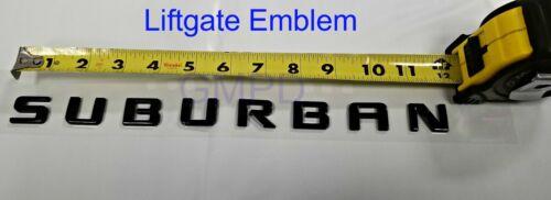 2015-2019 Chevrolet Suburban Gloss Black Liftgate Emblem OEM New GM Easy Install