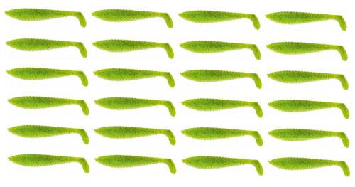 Cormoran K-Don S10 13.5cm green-chartreuse 24 Stück Paket Gummifische Hecht Za
