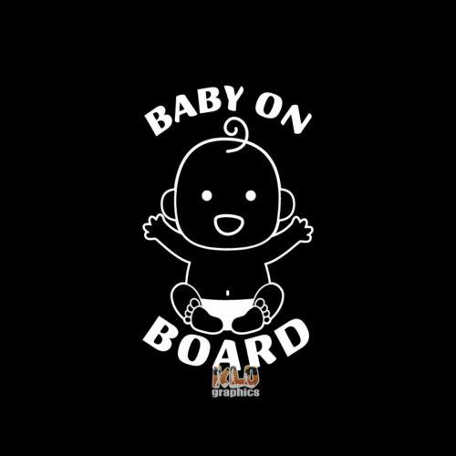 BABY ON BOARD vinyl sticker car truck CUTE ADORABLE CAUTION NEWBORN Drive Safe