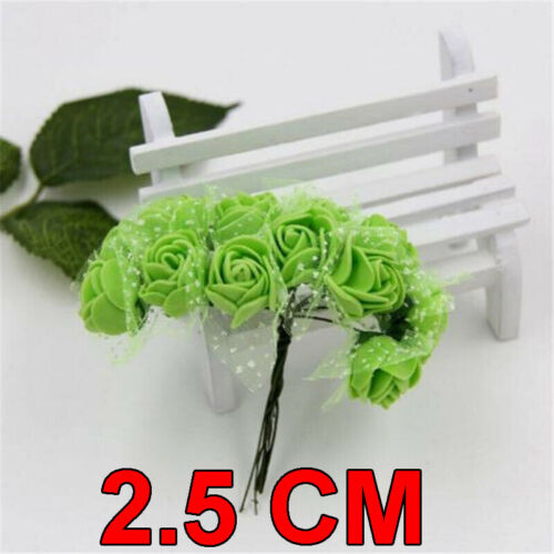 FOAM Mini Roses 144 Pcs SMALL FLOWERS CHRISTMAS All OCCASION Party Decorations