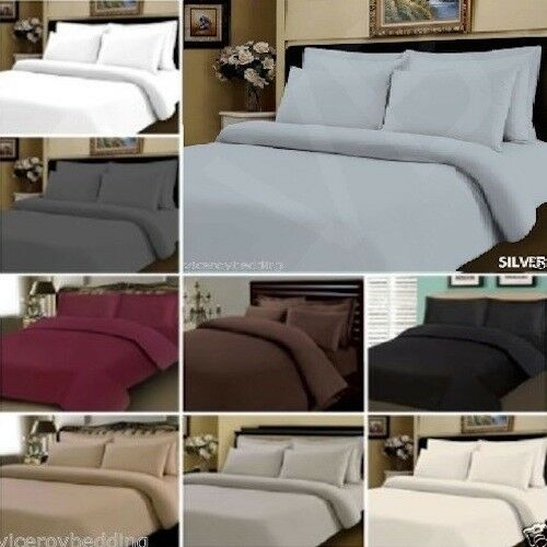 400 THREAD COUNT EGYPTIAN COTTON DUVET COVER BEDDING BED SET