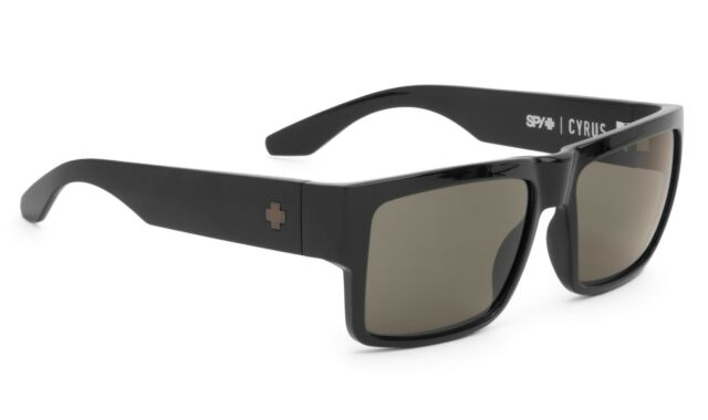 Spy Cyrus Sunglasses - Matte Black - Happy Grey Green - New
