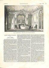 Salle à Manger Louis XV Hôtel de Leys Bd de Courcelles Louis XV GRAVURE 1882