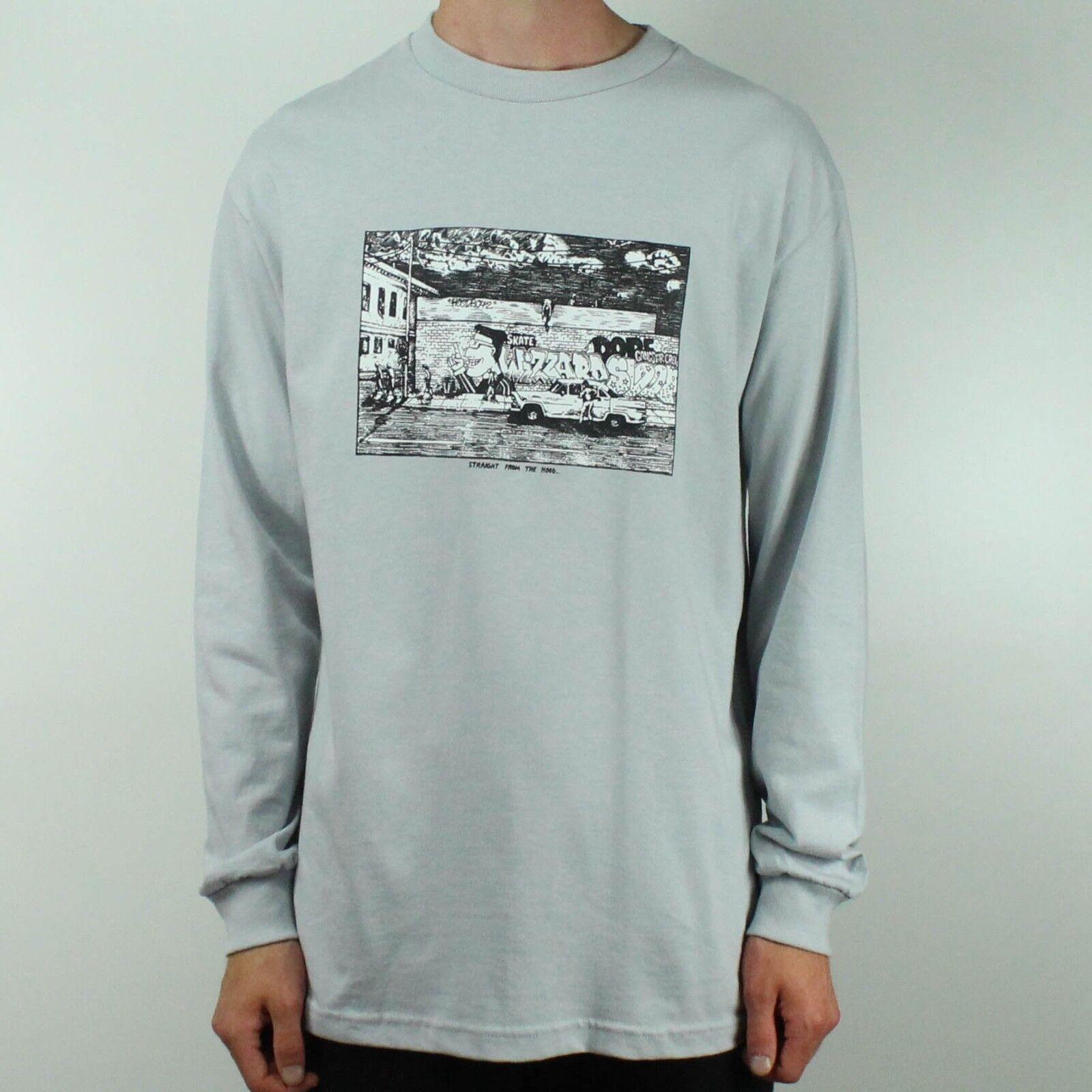 Polar direttamente dal cappuccio manica lunga T-shirt tee in grigio taglia S, M, L
