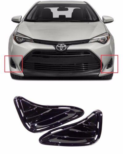 Fit For 17 18 Toyota Corolla LE Fog Light Cover Side Bezels Set 2pcs LH RH
