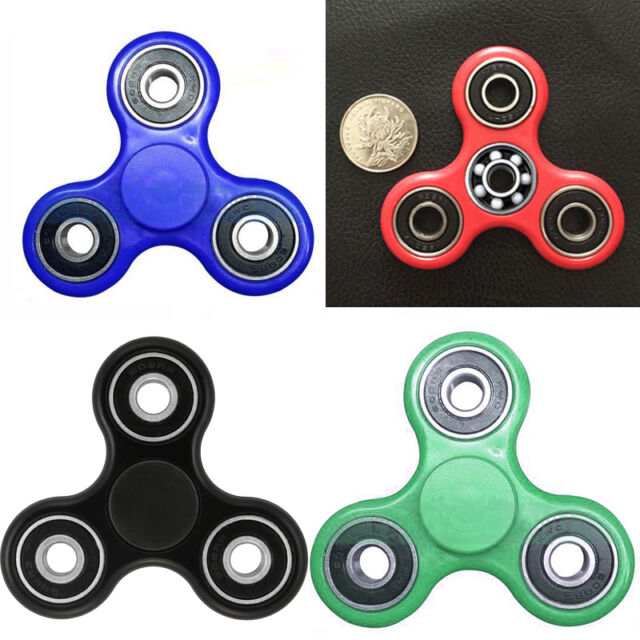 Tri-Spinner Fidget Toy EDC Hand Finger Spinner Desk Focus ADHD Glowing Color